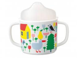 Acheter Tasse deux anses antidérapante avec bec amovible pour bébé - la campagne - 9,90€ en ligne sur La Petite Epicerie - 1...