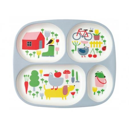 Acheter Plateau à 4 compartiments pour bébé - la campagne - 10,99€ en ligne sur La Petite Epicerie - Loisirs créatifs