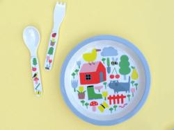 Acheter Assiette pour bébé - la campagne -  diamètre 18 cm - 7,26€ en ligne sur La Petite Epicerie - 100% Loisirs créatifs