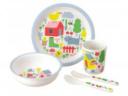 Acheter Coffret cadeau de vaisselle pour bébé - 5 pièces - la campagne - 29,99€ en ligne sur La Petite Epicerie - 100% Loisi...