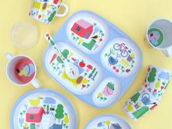 Acheter Coffret cadeau de vaisselle pour bébé - 5 pièces - la campagne - 29,99€ en ligne sur La Petite Epicerie - Loisirs cr...