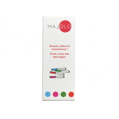 Acheter Boîte de 4 feutres Majolo adaptés pour stickers book - 5,99€ en ligne sur La Petite Epicerie - 100% Loisirs créatifs