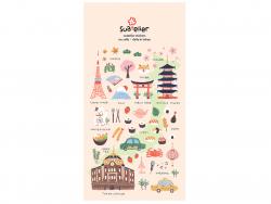 """Acheter Stickers """"une journée à Tokyo"""" - 2,49€ en ligne sur La Petite Epicerie - 100% Loisirs créatifs"""