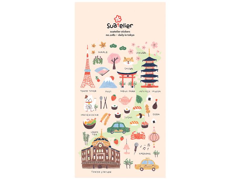 """Acheter Stickers """"une journée à Tokyo"""" - 2,49€ en ligne sur La Petite Epicerie - Loisirs créatifs"""