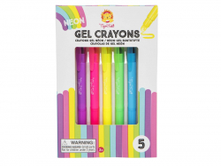 Acheter 5 crayons gel - couleur fluo - 8,99€ en ligne sur La Petite Epicerie - Loisirs créatifs
