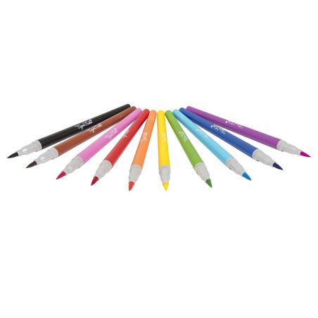 Acheter 10 feutres marqueurs double pointe - 9,99€ en ligne sur La Petite Epicerie - 100% Loisirs créatifs