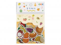 Acheter Sachet de 45 petits stickers - fruits avec effet métallisé - 2,19€ en ligne sur La Petite Epicerie - 100% Loisirs cr...