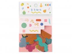 Acheter Sachet de 45 petits stickers - formes abstraites - 2,19€ en ligne sur La Petite Epicerie - 100% Loisirs créatifs