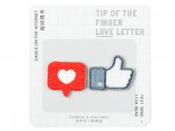 Acheter 2 patchs thermocollants - like / j'aime - 3,99€ en ligne sur La Petite Epicerie - 100% Loisirs créatifs