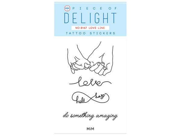 Acheter Tattoos éphémères love line - 1,99€ en ligne sur La Petite Epicerie - Loisirs créatifs