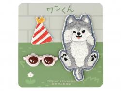 Acheter 3 patchs thermocollants - chien corgi qui fait la fête - 3,99€ en ligne sur La Petite Epicerie - 100% Loisirs créatifs