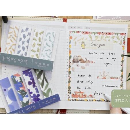 Acheter lot de 80 notes adhésives / marque-pages en papier - fleurs et feuilles - 1,99€ en ligne sur La Petite Epicerie - 10...