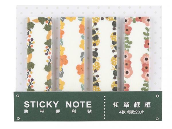 Acheter lot de 80 notes adhésives / marque-pages en papier - fleurs et feuilles - 1,99€ en ligne sur La Petite Epicerie - Lo...