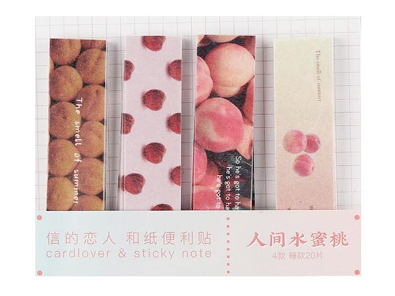 Acheter lot de 80 notes adhésives / marque-pages en papier - pêche et abricot - 1,99€ en ligne sur La Petite Epicerie - Lois...