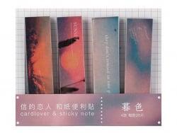 Acheter lot de 80 notes adhésives / marque-pages en papier - coucher de soleil - 1,99€ en ligne sur La Petite Epicerie - 100...