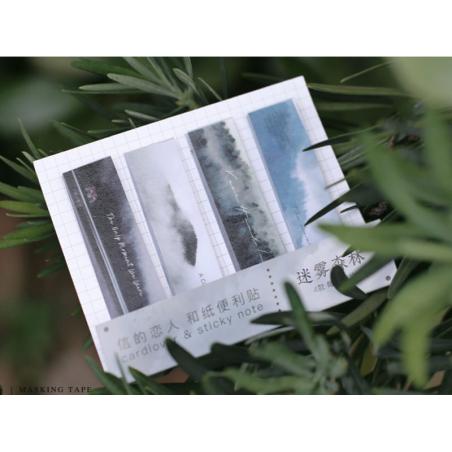 Acheter lot de 80 notes adhésives / marque-pages en papier - brume - 1,99€ en ligne sur La Petite Epicerie - 100% Loisirs cr...