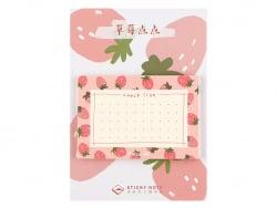 Acheter Bloc de 30 notes adhésives - check list à fraises - 1,19€ en ligne sur La Petite Epicerie - Loisirs créatifs
