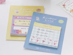 Acheter Bloc de notes adhésives carrées - glace à l'italienne - 1,19€ en ligne sur La Petite Epicerie - Loisirs créatifs