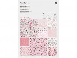 Acheter Bloc de papiers à motifs Amour - Rico Design - 16,79€ en ligne sur La Petite Epicerie - Loisirs créatifs