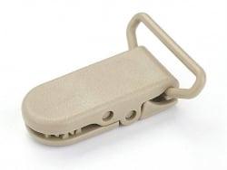 Acheter Pince clip accroche tétine pour bébé - kaki - 0,89€ en ligne sur La Petite Epicerie - 100% Loisirs créatifs