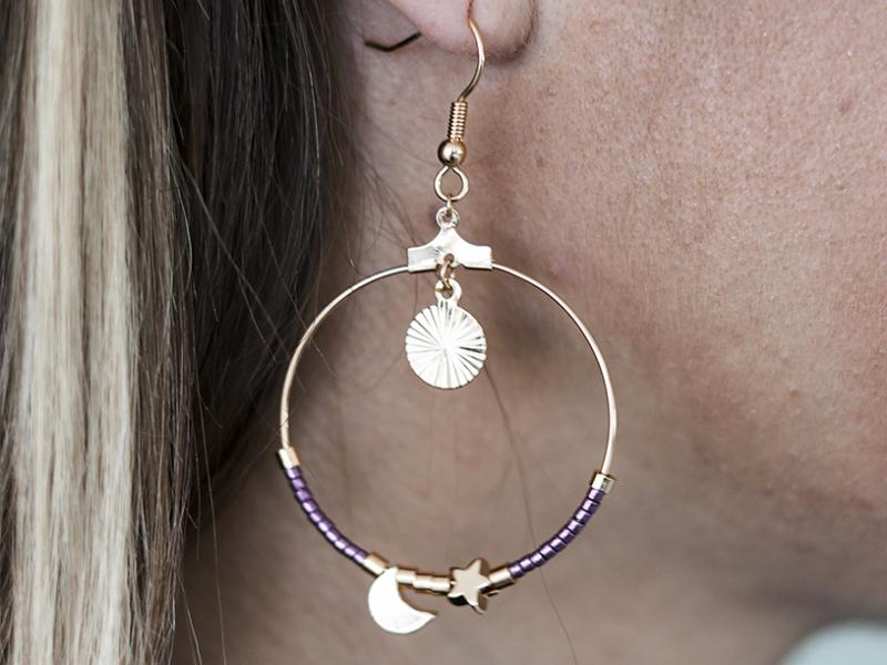 Acheter Boucles d'oreilles Manon - Kit bijoux précieux dorés à l'or fin - 14,90€ en ligne sur La Petite Epicerie - 100% Lois...