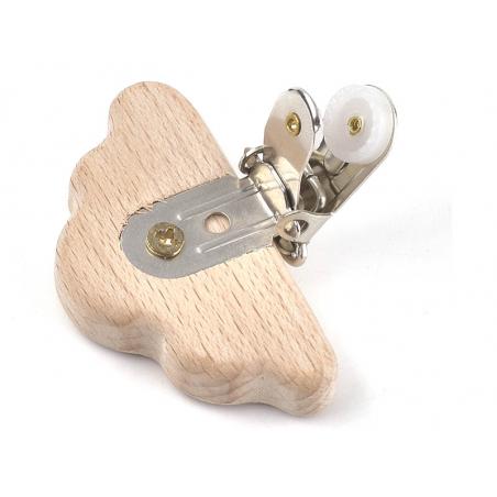 Acheter Pince clip accroche tétine pour bébé - bois clair - nuage - 3,39€ en ligne sur La Petite Epicerie - 100% Loisirs cré...