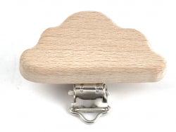 Acheter Pince clip accroche tétine pour bébé - bois clair - nuage - 3,39€ en ligne sur La Petite Epicerie - Loisirs créatifs