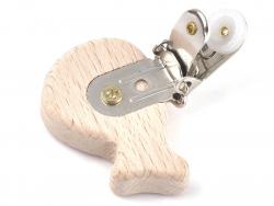 Acheter Pince clip accroche tétine pour bébé - bois clair - baleine - 3,39€ en ligne sur La Petite Epicerie - 100% Loisirs c...