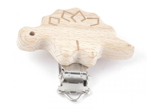 Acheter Pince clip accroche tétine pour bébé - bois clair - dinosaure - 3,89€ en ligne sur La Petite Epicerie - 100% Loisirs...