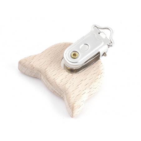 Acheter Pince clip accroche tétine pour bébé - bois clair - chat - 3,89€ en ligne sur La Petite Epicerie - 100% Loisirs créa...