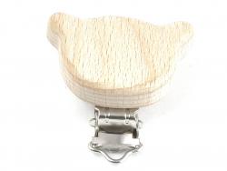 Acheter Pince clip accroche tétine pour bébé - bois clair - ourson - 3,39€ en ligne sur La Petite Epicerie - 100% Loisirs cr...