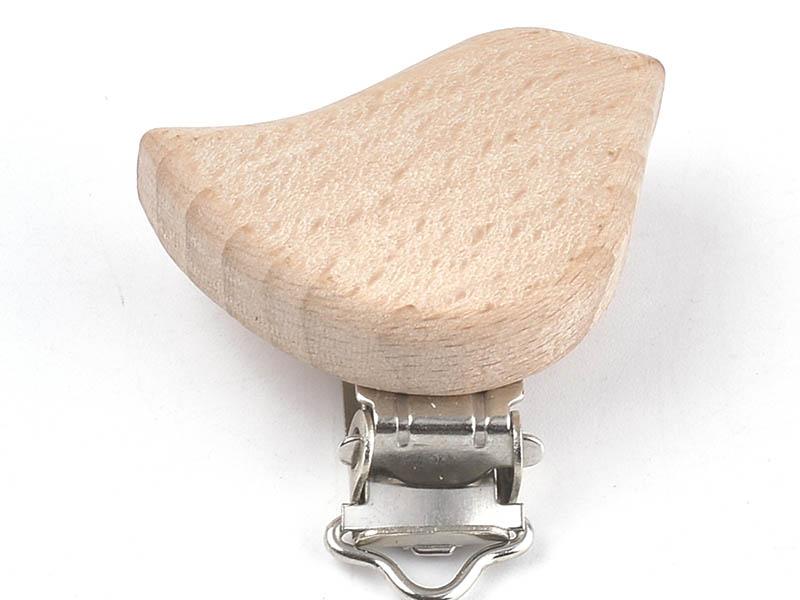 Acheter Pince clip accroche tétine pour bébé - bois clair - oiseau - 4,09€ en ligne sur La Petite Epicerie - 100% Loisirs cr...