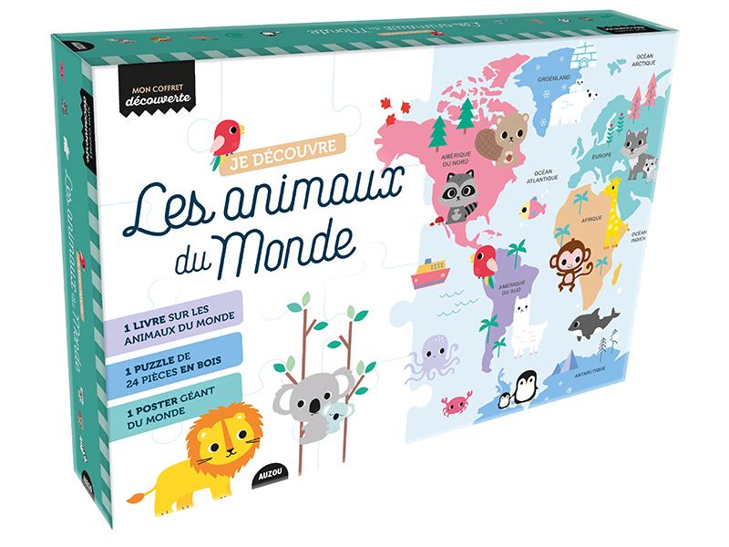 Acheter Coffret livre avec puzzle- Je decouvre les animaux du monde - Shirley Rusli - 24,95€ en ligne sur La Petite Epicerie...