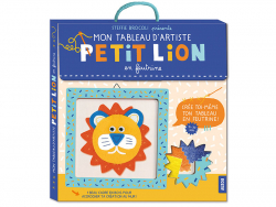 Acheter Coffret créatif petit lion en feutrine - mon tableau d'artiste - 12,50€ en ligne sur La Petite Epicerie - 100% Loisi...