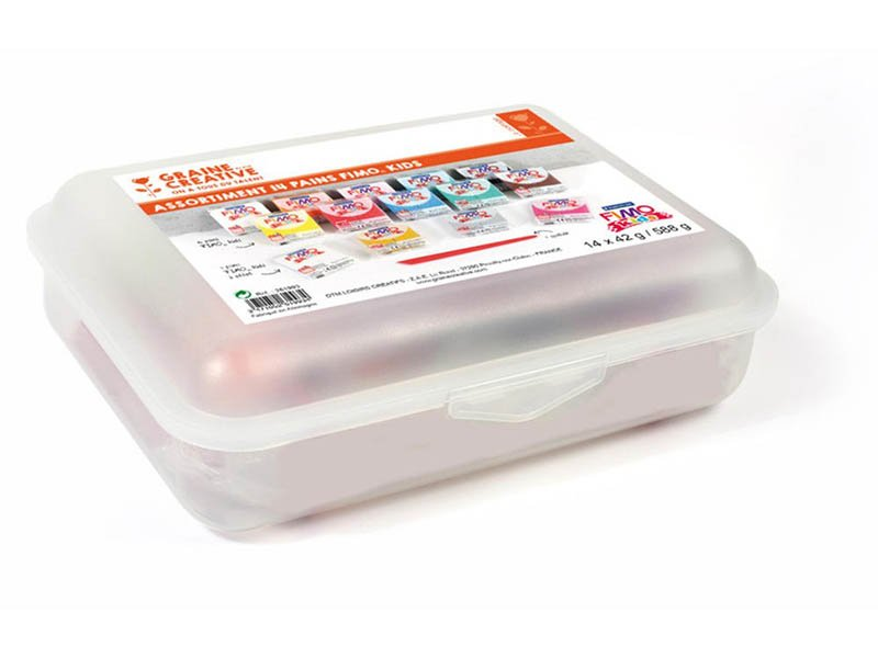 Acheter Assortiment 14 pains Fimo KIDS + spatule - 24,99€ en ligne sur La Petite Epicerie - Loisirs créatifs