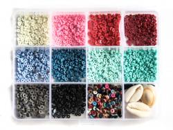 Acheter Boite de 11 couleurs naturelles de perles heishi 3 mm + accessoires - 12,99€ en ligne sur La Petite Epicerie - 100% ...