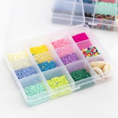 Acheter Boite de 11 couleurs de perles heishi 3 mm + accessoires - 12,99€ en ligne sur La Petite Epicerie - Loisirs créatifs