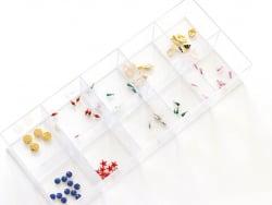 Acheter Support rectangulaire avec 10 compartiments - 10,90€ en ligne sur La Petite Epicerie - 100% Loisirs créatifs