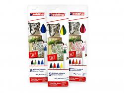 Acheter 5 feutres pour textile Edding - tons chauds - 1 mm - 5,99€ en ligne sur La Petite Epicerie - Loisirs créatifs