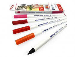 Acheter 5 feutres pour textile Edding - tons chauds - 1 mm - 5,99€ en ligne sur La Petite Epicerie - 100% Loisirs créatifs