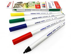 Acheter 5 feutres pour textile Edding - multicolores - 1 mm - 5,99€ en ligne sur La Petite Epicerie - Loisirs créatifs