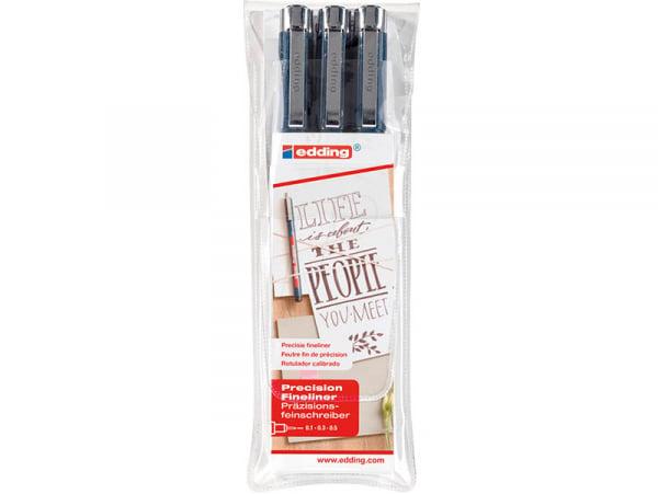 Acheter Set de 3 feutres fin de précision pour lettering - Edding - 10,69€ en ligne sur La Petite Epicerie - 100% Loisirs cr...