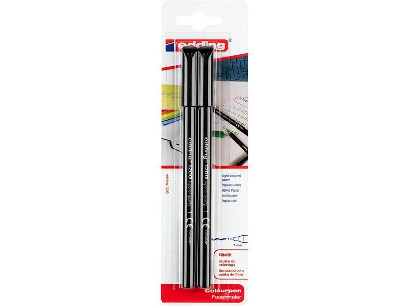 Acheter Set de 2 feutres de coloriage noirs - Edding - 1,99€ en ligne sur La Petite Epicerie - 100% Loisirs créatifs
