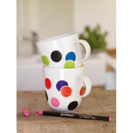 Acheter Set de 4 feutres pinceaux pour porcelaine - bleu/vert/jaune- Edding - 6,49€ en ligne sur La Petite Epicerie - Loisir...
