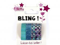 Acheter Lot de 3 mini masking tapes paillettes et sirènes - 4,89€ en ligne sur La Petite Epicerie - 100% Loisirs créatifs