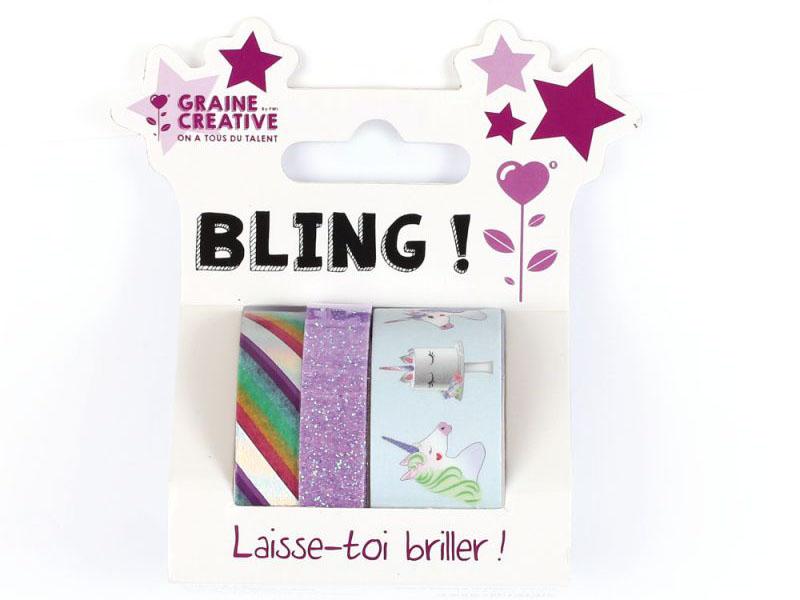 Acheter Lot de 3 mini masking tapes paillettes et licorne - 4,89€ en ligne sur La Petite Epicerie - 100% Loisirs créatifs