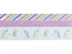 Acheter Lot de 3 mini masking tapes paillettes et licorne - 4,89€ en ligne sur La Petite Epicerie - Loisirs créatifs