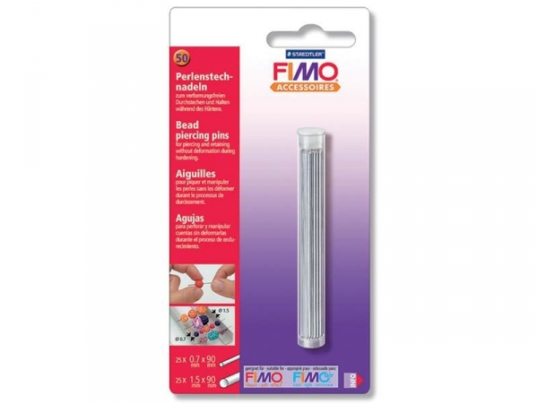 Set of 50 bead piercing pins for FIMO