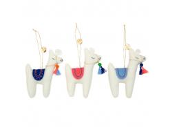 Acheter Set de 3 décorations de sapin - lamas - Meri Meri - 14,95€ en ligne sur La Petite Epicerie - Loisirs créatifs