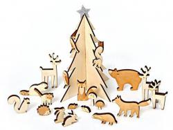 Acheter Calendrier de l'Avent en bois - Scène de forêt magique - Meri Meri - 31,49€ en ligne sur La Petite Epicerie - 100% L...